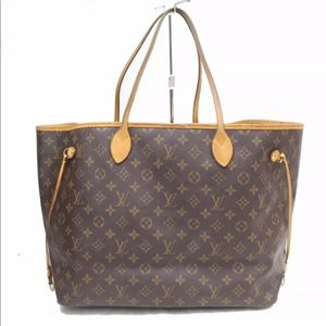 Auth Louis Vuitton Neverfull GM Tote L15TO609
